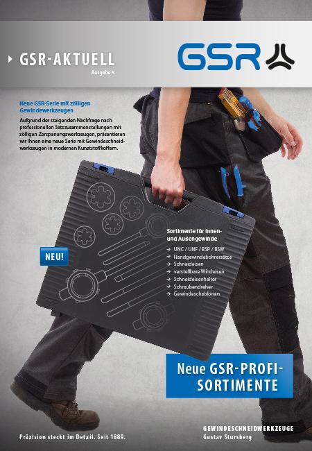 Newsletter 5 Cover: GSR Profi Gewindeschneder Sortimente