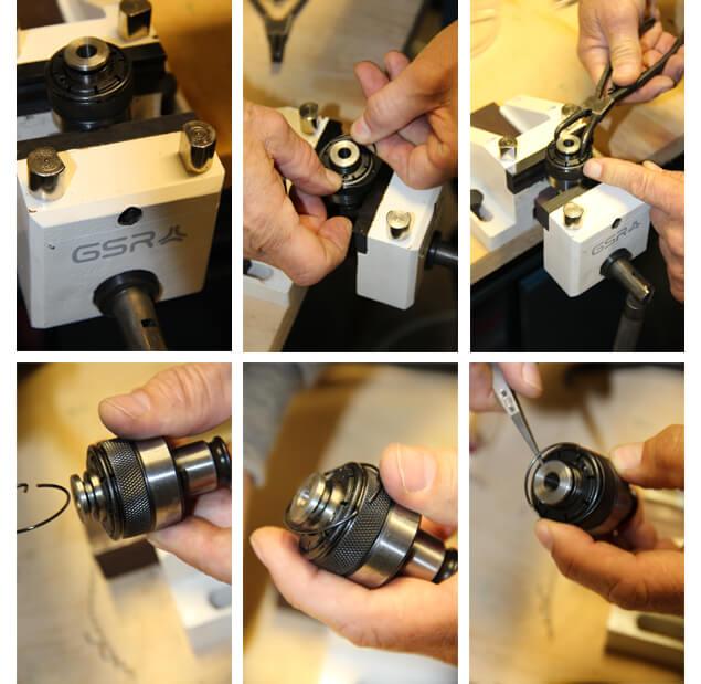 Werkzeugbruch beim Gewindeschneiden mit  Maschinengewindebohrern Drehmoment: Fotoserie