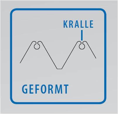 Technische Zeichnung: Gewindeform Gewindefurcher Kralle