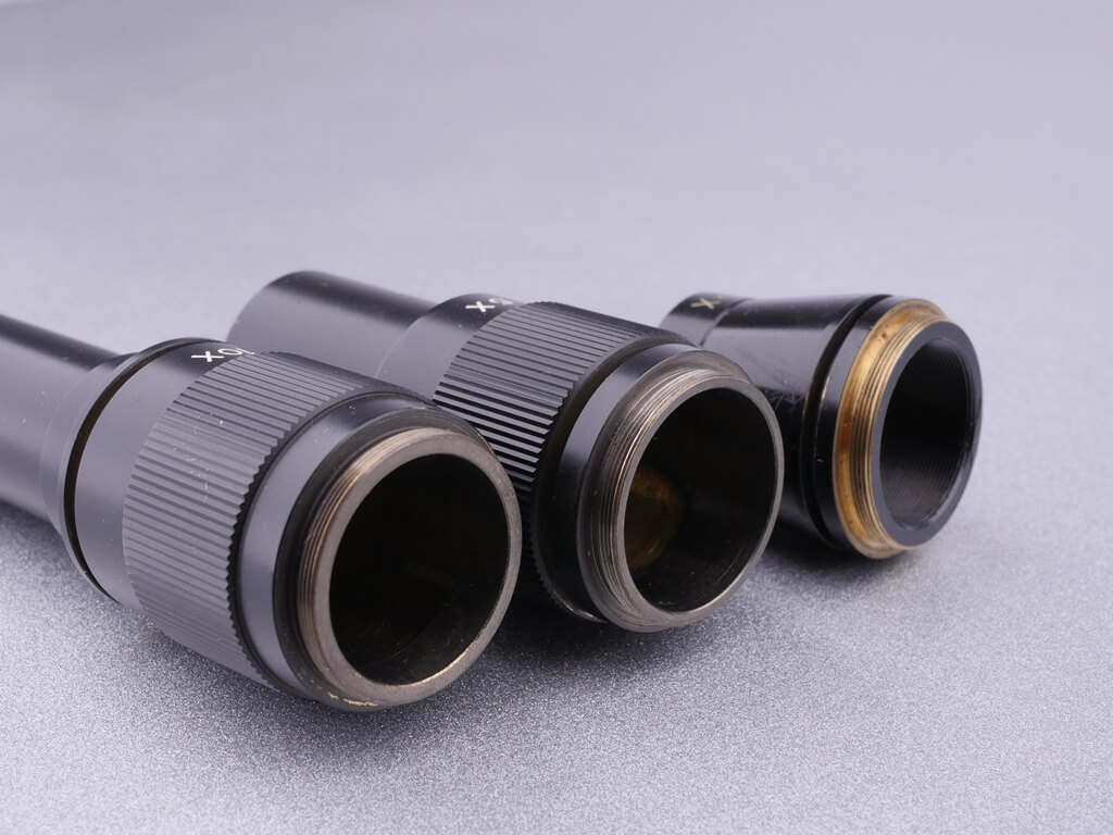 Mikroskop-Objektiv-Gewinde: 2x, 5x und 10x Vergrößerungsobjektive