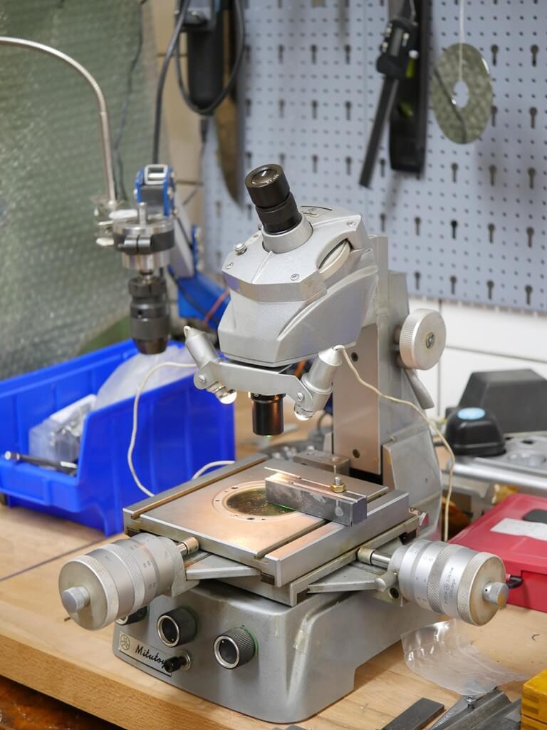 Mikroskop aus der GSR-Qualitätssprüfung
