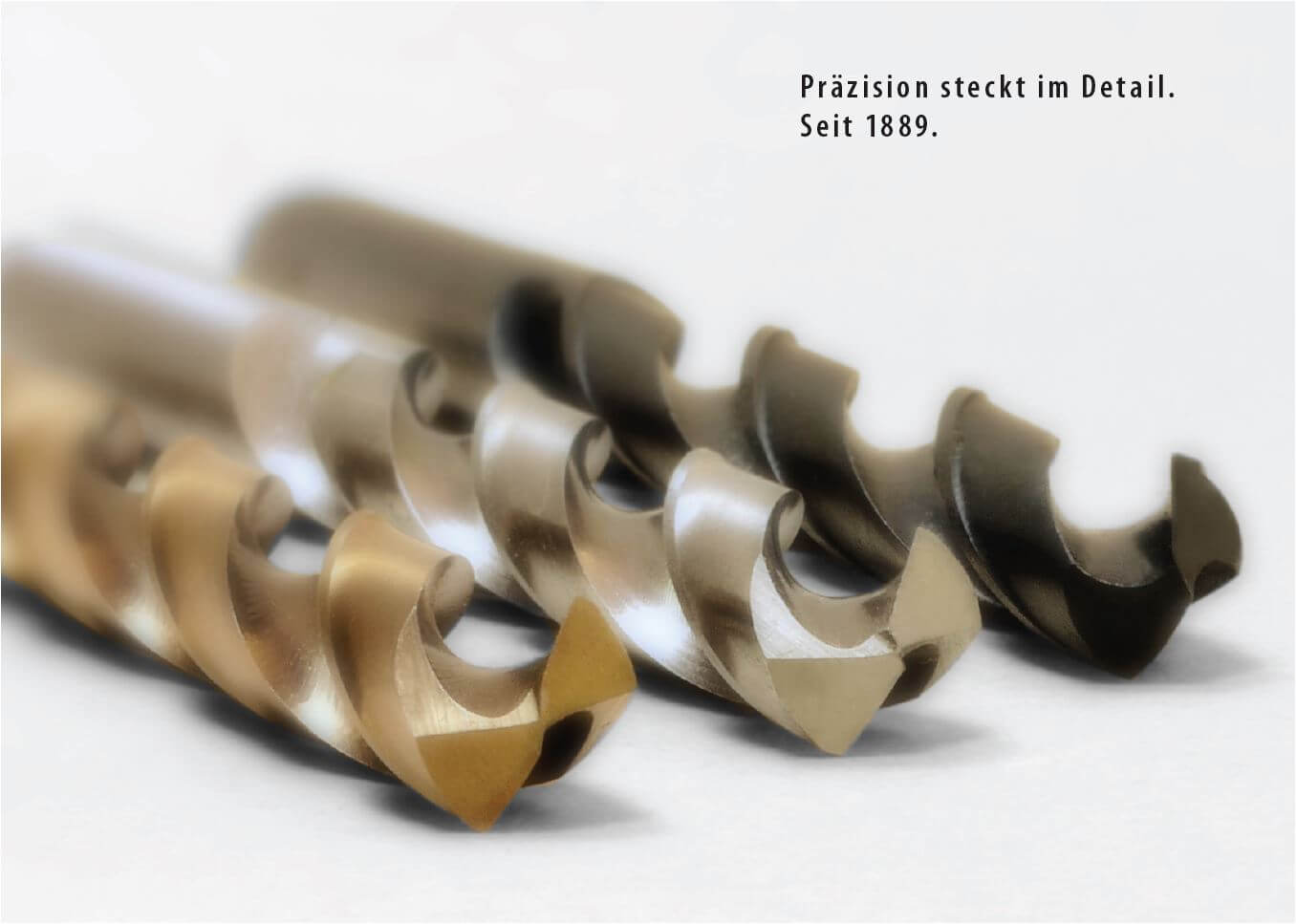 3 verschiedenene Spiralbohrer von GSR Gustav Stursberg in blank, rollgewalzt und TiN