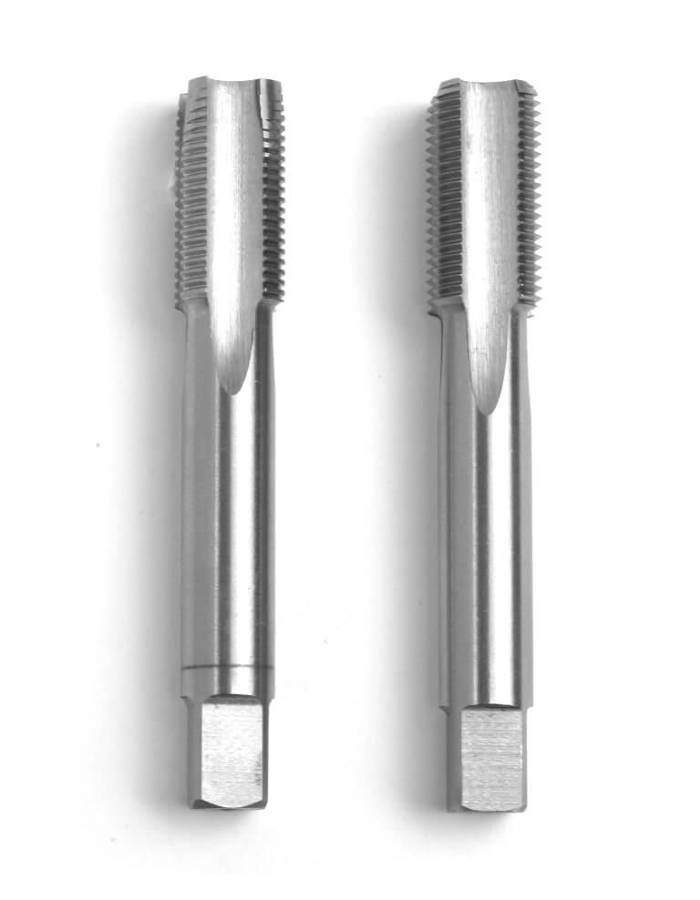 2-teiliger Handgewindebohrer-Satz: Vorschneider und Fertigschneider